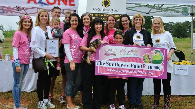 R10 000 Donation to The Sunflower Fund