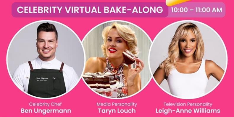 Celebrity Virtual Bake-along on 25 Sept