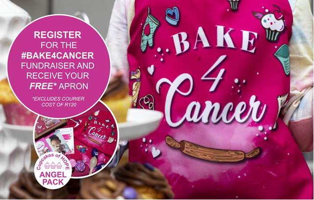 HAVE YOU REGISTERED FOR YOUR FREE #BAKE4CANCER APRON?